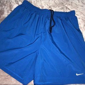 Nike Athletic Blue And White Shorts